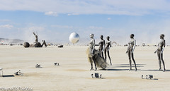 Theodora 2048: The Robot Bride (WayneToTheMax) Tags: robot burning man 2018 mannequin bride bridal party mirror landscape surreal globe sphere desert nevada black rock city nikon d750 xing zhang