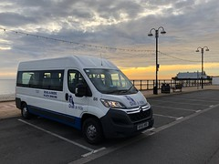 Bus 16 at sunrise (BiggestWoo) Tags: minibus citroen citröen mini bus dial ride dialaride grimsby cleethorpes sunrise passenger welfare