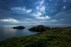 Strumble Head Lighthouse (BitRogue) Tags: 1635mm d800 nikon pembrokeshire strumbleheadlighthouse strumblehead sunset sundown lighthouse clouds sea island