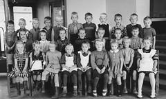 Class photo (theirhistory) Tags: boy children kid girl school class form group pupils jumper trousers wellies shoes sandals boots dress skirt