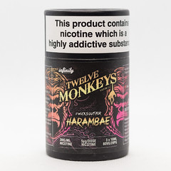 TWELVE MONKEYS - HARAMBAE - 6x10ML - E-LIQUID (VAPEPRODUCTPHOTOS) Tags: eliquid vape vaping vapour oxford twelve monkeys twelvemonkeys 10ml 3mg box pg vg 500px tpd high