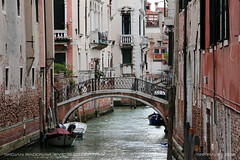 Typical Venice street (srkirad) Tags: travel venice italy water canal street bridge ponte buildings houses old bricks cloudy excursion summer vacation