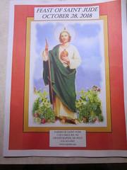 Feast of St. Jude bulletin (creed_400) Tags: belmont west michigan october autumn fall st saint jude bulletin feast