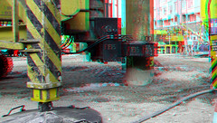 Boorpalen Cooltower Rotterdam 3D (wim hoppenbrouwers) Tags: boorpalen cooltower rotterdam 3d anaglyph stereo redcyan