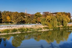 Colours on the river (Daniel Boca) Tags: water waterscape river arad mures romania reflection reflections mirror colours colorful colors blue bluesky yellow green tree trees nature naturephotography naturepics naturephotograph landscape city cityscape canon canoneos750d canoneurope canonromania light sunlight