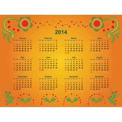 Free vector floral design elements orange 2014 Calendar (cgvector) Tags: 2014 background bright business calendar calender colorful day decor decorative drawing floral flower green grid illustration month new original ornament ornamental painting red russian template traditions vector vintage year