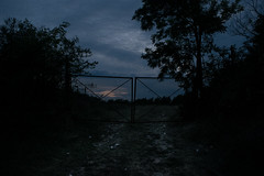 (tudor_robert) Tags: road gate evening bluehour sky atmosphere