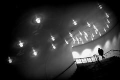 symphony of lights (bostankorkulugu) Tags: elbphilharmonie hamburg germany silhouette walk stairs light lamps lights tilted tilt korkut graphism graphics geometry europe deutschland bw bostankorkulugu bostanci bostan blackwhite blackandwhite monochrome hansestadt hanseatic