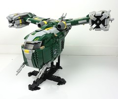 moc ss-54 2 (Chaurand Damien) Tags: green route personnes assault gunship fiction science space ship moc brick buil clone hunter bounty wars star lego
