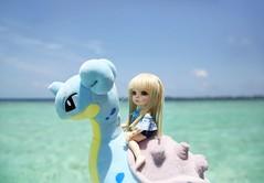 The Blue Ocean (SunShineRu) Tags: pkf ante pukifee fairyland bjd ball jointed doll dolls pokemon venusaur mimikyu sleeping island tiny lapras swimming vacation holiday maldives komandoo beach