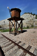Rest Stop Train Theme (Laurence's Pictures) Tags: train rail traincation union pacific up railroad railway locomotive engine freight transportation drgw rio grande western mountain railroading