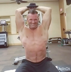 tricep press (ddman_70) Tags: shirtless pecs abs muscle gym workout triceps