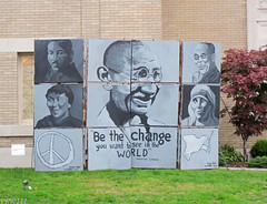 Be The Change You Want To See In The World (PPWIII) Tags: grandrapids art prize devos cornerstone church peace ghandi mlk lafayette washington