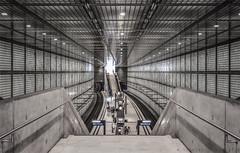 Leipzig -  Wilhelm-Leuschner-Platz (henny vogelaar) Tags: germany leipzig station architecture maxdudler ubahn glassblocks concrete infrastructure transportation transparent billioneuroubahn citytunnel