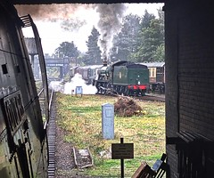 Great Central Railway Loughborough Leicestershire 5th October 2018 (loose_grip_99) Tags: greatcentral railway railroad rail train steam engine locomotive autumn gala southern bulleid westcountry pacific 462 34092 cityofwells loughborough leicestershire gwr greatwestern modified hall 460 6990 witherslackhall smoke station preservation trans gassteam uksteam trains railways october 2018