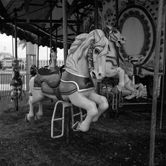 Animal cruelty (Eddie La Mole) Tags: carousel merrygoround roundabout carrusel horse blackandwhite film 120 ilfordpanf hasselblad500cm lasamaritana ilfotecddx