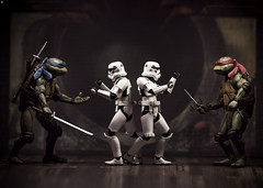 Foot Clan Upgraded (Jezbags) Tags: foot clan upgraded turtles tmnt teenagemutantninjaturtles michelangelo raphael toy toys neca shfiguarts starwars stormtrooper stormtroopers trooper troopers fight battle macro macrophotography macrodreams canon canon80d 80d 100mm sewer