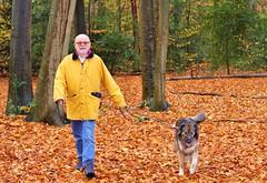Man with Dog.. Lara (Steenvoorde Leen - 9.4 ml views) Tags: man dog pose hond doggy hound chien clebard perro can perra canino cane cao cachorro lara me ludenbos doornshot doornshots