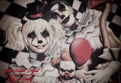 #1026 (Vicky Victoria Macnelly) Tags: irrisistible clown it fantasy halloween autumn fancy costume creepy horror circus sl second life men women aesthetic signature slink omega maitreya belleza appliers skin hairs eyes make up