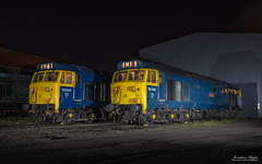 Backdated Blues brothers (Nimbus20) Tags: class50 hoover ee englishelectric traction diesel svr severnvalley kidderminster nightshoot
