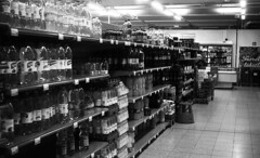 The drinks never end (Sonofsono) Tags: film fed fed2 black bw white drinks soda store rangefinder