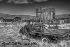 Old Truck (monochrome) (Michael F. Nyiri) Tags: bodiestatehistoricpark bodieca northerncalifornia ghosttown monochrome truck