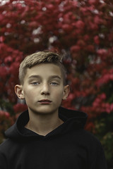(Rebecca812) Tags: portrait boy tween serious fineart red confident people headandshoulders boyhood hoodie fall autumn rebeccanelson canon rebecca812