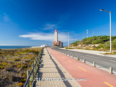 Portugal 2017-9041999-2 (myobb (David Lopes)) Tags: 2017 allrightsreserved atlanticocean europe nazare portugal absence bikepath cobblestone copyrighted landscape lighthouse nature nopeople ocean outdoor plant scenicnature sidewalk sky skybluesky street streetlamp tourism touristattraction tranquilscene tranquilty traveldestination vacation water ©2017davidlopes