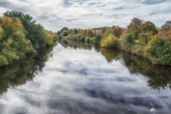 mirror mirror (Kerriemeister) Tags: york millennium bridge reflection river ouse nikond5300 clouds sky trees autumn autumnal