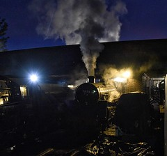 Great Central Railway Loughborough Leicestershire 7th October 2018 (loose_grip_99) Tags: greatcentral railway railroad rail train loughborough leicestershire eastmidlands england uk steam engine locomotive night nightime shadows darkness august gala preservation transportation gassteam uksteam trains railways britishrailways standard5 460 73156 70013 olivercromwell prep october 2018 atmosphere