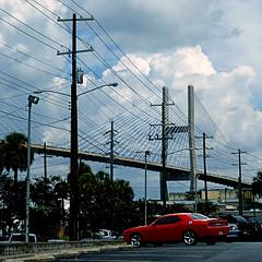 Savannah, Georgia, USA (pom'.) Tags: panasonicdmctz101 july 2018 america northamerica usa unitedstatesofamerica georgia savannah car 100 bridge red 200 americanwayoflife