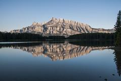 Mount Rundle seen from Two Jack Lake, sunrise (birgitmischewski) Tags: