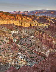 Capital Reef (Valley Imagery) Tags: capital reef national park sunrise river canyon color geology erosion summer cliff landscape portrait tamron 1530 sony a99ii utah usa america road trip gooseneck overlook waterpocket fold