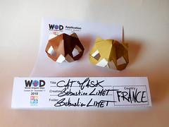 cat mask (-sebl-) Tags: mask cat wod origami kami paper sebl art