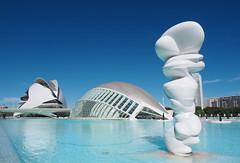 Valencia - CAC - Ciutat de les Arts i les Ciències (madbesl) Tags: valencia spanien spain europa europe ciutatdelesartsilesciències architektur architecture modernearchitektur modernarchitecture santiagocalatrava l'hemisfèric palaudelesartsreinasofía olympus omd em10 m10 omdem10 zuiko1250 cac
