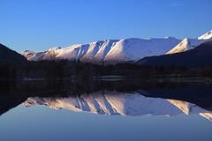 Inntrykk -|- Impression (erlingsi) Tags: åmdalen vassende ørsta reflection reflectionshot vatnevatnet fjell mountains snow spegling spiegel