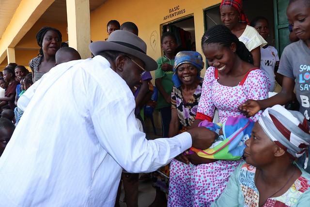 HSDickson - Hon. Gov Dickson Embarks On Monitoring Tour, Assures IDPs Of Return, Resettlement.