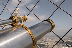 New article on the blog! Today we're going at the top of the Eiffel tower! (EatMyBones) Tags: stuckinplastic figurine miniature paris poseskeleton rement skeleton toy toyphotography toysafari
