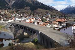RhB Klosters - Landquartbrücke IV (Kecko) Tags: 2018 kecko switzerland swiss schweiz graubünden graubuenden gr klosters platz prättigau davos rhätischebahn rhaetian railway railroad bahn viafierretica rhb landquart brücke bridge maag maillart river fluss swissphoto geotagged geo:lat=46867460 geo:lon=9879850