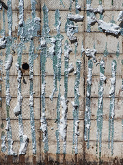 Stripped Down (jaxxon) Tags: 2018 d610 nikond610 jaxxon jacksoncarson nikon nikkor lens nikon105mmf28gvrmicro nikkor105mmf28gvrmicro 105mmf28gvrmicro 105mmf28 105mm macro micro prime fixed pro abstract abstraction urban wall surface texture glue adhesive demolition material pattern liquidnail