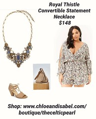 Today's Featured Item: Royal Thistle Convertible Statement Necklace $148 Shop: https://www.chloeandisabel.com/boutique/thecelticpearl/products/N664MBG/royal-thistle-convertible-statement-necklace  Find yourself lost in the Scottish lore of our Royal Thist (thecelticpearl) Tags: trending new trend buy lifetime product daily trendy lapis antique royalthistle trends pearl shopping jewelry glass smoked boutique ribbon cream hematite celtic convertible resin semiprecious dustyrose light fall style love denim shop smokedtopaz crystal featured scotland guarantee olivine chloeandisabel royal gold inspired topaz necklace crystals statement accessories clear thecelticpearl thistle blue velvet ootd candi online fashion
