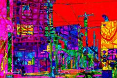 City Corner (brillianthues) Tags: city corner urban photoshop badlands philadelphia colorful collage abstract photography photmanuplation