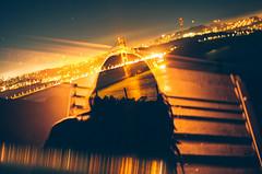 untitled (Louis Dazy) Tags: 35mm analog film double exposure grain silhouette girl woman city skyline night dark