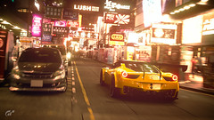 Ferrari 458 GT3 (Matze H.) Tags: ferrari 458 gt3 speciale tuning tokyo city neon light race spoiler yellow night dark gt sport gran turismo playstation 4 pro uhd 4k hdr wallpaper screenshot scapes traffic super car liberty walk