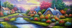 Ready for Dinner, Art Painting / Oil Painting For Sale - Arteet™ (arteetgallery) Tags: arteet oil paintings canvas art artwork fine arts sky landscape summer tree travel water tourism sun outdoors cloud grass building season sunset scenery design river vacation reflection natural scene day colorful countryside tranquil old history scenic spring outdoor leaf monument silhouette garden plant rural drawing landscapes surreal fantasy pastorals lime pink paint