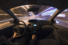 Hyperspace (Viktor Kiss) Tags: nikon d850 fisheye 8mm car toyota yaris night longexposure longexpo lights