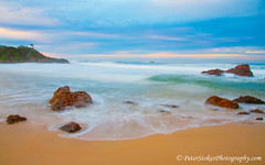 Flynns Beach, Port Macquarie at sunrise (Peter.Stokes) Tags: australia landscapes nature river saltwater water portmacquarie newsouthwales au sunset sea light colour evening