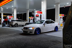 Late night fill up (luongphoto) Tags: luongphotography luongphoto 35mm sigmaart nikon d800 te37sl te37 wheelwednesday gasup volkracing raysengineering hyperblue