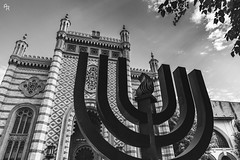 The Coral Temple (Andrea Rizzi Esk) Tags: architecture architectural city romania europe bucharest old black white bw jew judaism sinagoga candelabrum monument light contrast