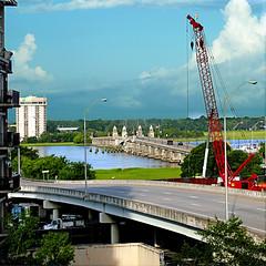 Ashley River, Charleston, SC, USA (pom'.) Tags: panasonicdmctz101 july 2018 america northamerica usa unitedstatesofamerica southcarolina charleston 100 bridge ashleyriver 200 americanwayoflife